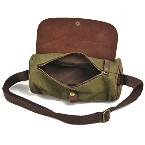Zhhlaixing Borsa casuale Vintage Military Style Trend Unisex Shoulder Bag Round Diagonal Package Casual Bags for Men Women Dark Gray