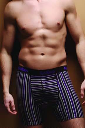 Kickers - 1 paire de boxers hommes de coton, grandes, des rayures violettes (Purple stripe)