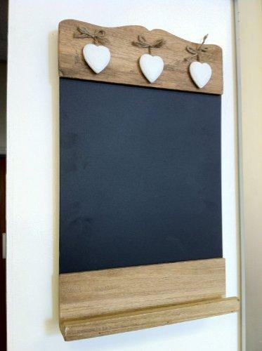 sass-belle-tableau-noir-en-bois-avec-tablette-motifs-coeurs-blancs