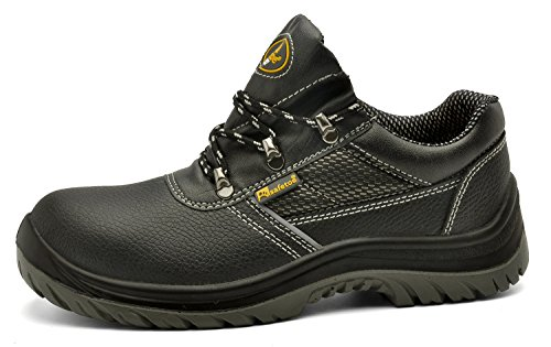 Leather Wide Fit Safety Trainer Shoes for both Men and Women (8)