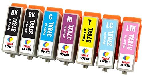 TONER EXPERTE® 7 XL Druckerpatronen kompatibel für Epson 378XL 378 XL Expression Photo XP-8500 XP-8505 HD XP-15000 XP-8000 XP-8005 | hohe Kapazität - 7k Toner Cyan