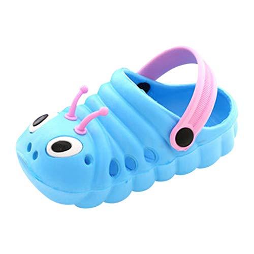 koperras Niedliche einfarbige Kinder Raupe rutschfeste Baby Babyschuhe zurück mit Baotou Sandalen und Hausschuhe rutschfeste wasserdichte Strandschuhe - Schuhe Jungen Kleinkind Jordan