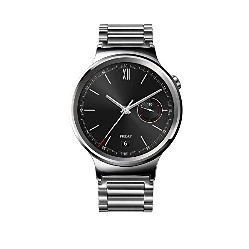 Huawei Smart Watch Stainless Silver - Huawei Smart Watch Stainless Steel with Stainless Steel Link Band, Silver - 651