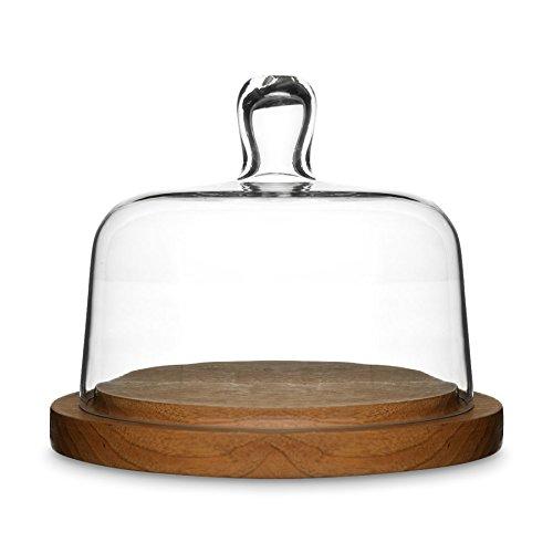 Cloche à fromage ovale Oak de Sagaform Verre/Bois Marron/Transparent