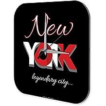 Reloj De Pared Pasión Viajes City New York Plexiglas