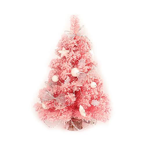 VIWIV Rosa Weihnachtsbaum-Perlen Die PVC-Dekoration-Weihnachtsketten-Hölzerne Kleine Tisch-Schaukel-Fenster-Anzeigen-Licht-Dekoration Sich Scharen,60Cm