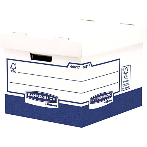 Bankers Box 4461701 Besonders stabile Archivbox, blau/weiß