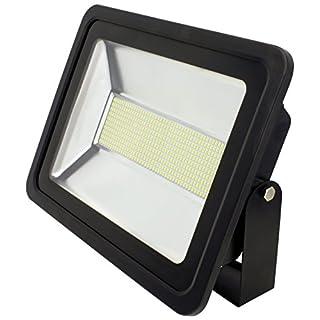 AdLuminis SMD LED Fluter Flutlicht-Strahler, 200 Watt 16000 Lumen, Aluminiumdruckgussgehäuse IP65, Energieklasse A+, Scheinwerfer Außenstrahler
