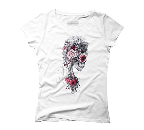 SKELETON BRIDE Women's Graphic T-Shirt - Design By Humans White