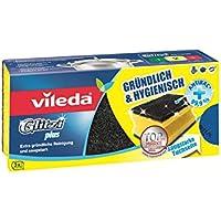 Vileda Glitzi Plus Topfreiniger, mit Antibac-Effekt gegen Bakterien, saugstark