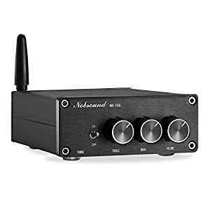 Nobsound Mini 200W (100W×2) Bluetooth 5.0 TPA3116 Digital Amplifier HiFi Stereo Class D Power Amp with Power Supply (NS-15G)