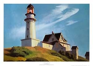 Reproduction d'art 'Phare de Two Lights', de Edward Hopper, Taille: 64 x 46 cm
