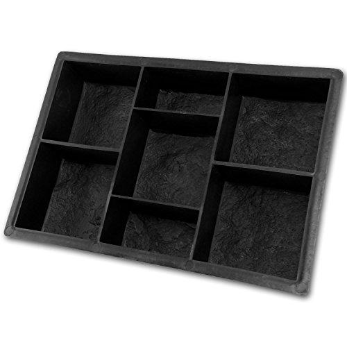 @tec Betonform Schalungsform Gießform Plastikform - Mosaik-Pflaster 30,5x20,3x5,5 cm - für Beton, Natursteinpflaster, Kopfsteinpflaster, Pflastersteine, Trittsteine - Gartenwege, Garageneinfahrt uvm
