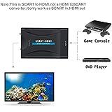 Scart auf HDMI,GANA Scart zu HDMI Konverter 1080P Scart to HDMI Adapter 60Hz HD für HDTV STB XBox PS3 Sky DVD Blu-ray Test