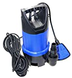 FLUENT POWER 750W 12500L/H Portable Submersible Water Pump, Dirty/Clean Submersible Pump with Revocable
