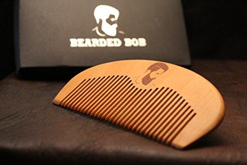 Bartkamm / Holzkamm - aus echtem Holz und in einem edlen Geschenkbox für die Bartpflege. Natürlich gepflegte Bart, Vollbart oder (Vollbart Schnurrbart Und)