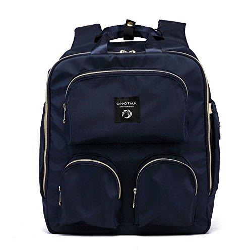 Einfache Art und Weise Mammabeutel, Schulterbeutel, Multifunktionsgroßkapazitätsmutterbeutel, gehen Rucksack, Mutterbabybeutel ( Farbe : Blau ) Blau