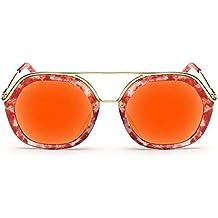 Große Doppel-Ring Hohl Frau Sonnenbrille Mode-Sonnenbrille,Orange-FreeSize