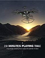 Drone With HD Camera Headless Mode Quadcopter Remote Control Aircraft 1800 MAh Battery Wifi APP Control Flight Shooting Real-time Transmission ( Color : Black )