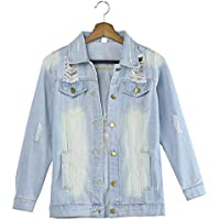 Hanomes Damen pullover, Damen Casual Langarm Cowboy Mode Mantel Bllouse Button T-Shirt Tops preisvergleich bei billige-tabletten.eu