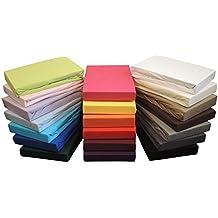 Sábana bajera sábana bajera en todos los tamaños y muchos colores, 100% algodón, verde manzana, 120x200 bis 130x200 cm