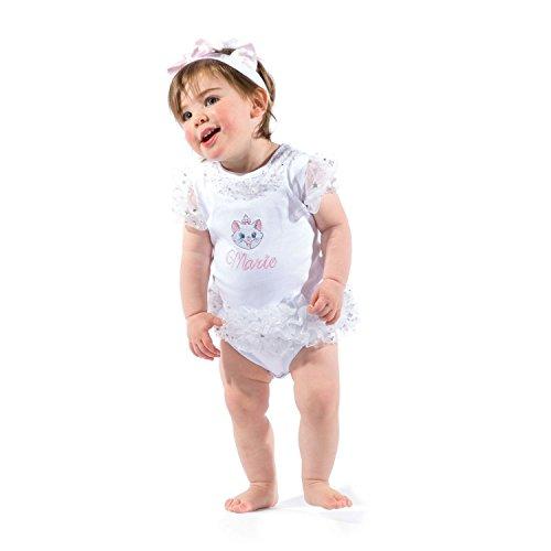 Kostüm Aristocats Marie - amscan Disney Baby DCMAR-TUW-06 - Kostüm - Marie - Tutu-Body mit Stirnband, weiß