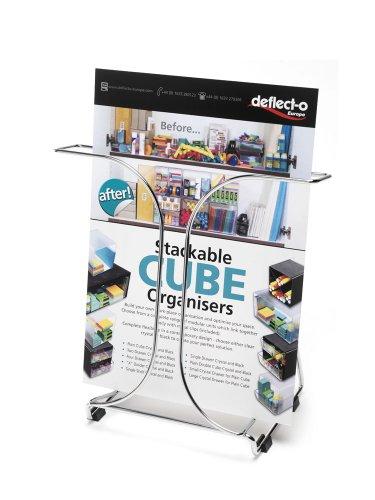 Deflecto Tisch-Prospektständer Draht mit Gummifüßen 1 Tasche A4