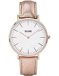 Cluse Reloj Analógico de Cuarzo para Mujer con Correa de Cuero – CL18030