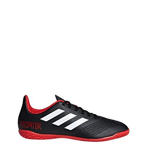 adidas Unisex-Kinder Predator Tango 18.4 IN Futsalschuhe, Schwarz (Negbás/Ftwbla/Rojo 001), 30 EU