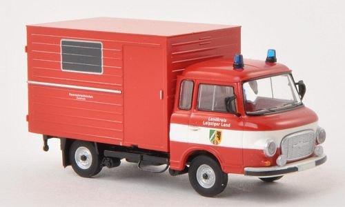 Barkas B 1000 Koffer, Feuerwehr Leipziger Land , Modellauto, Fertigmodell, Brekina 1:87