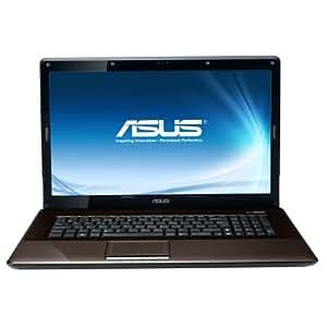 """Asus K72JT-TY085V Ordinateur portable 17,3"""" Intel Core i3-350M 500 Go RAM 4096 Mo Carte graphique AMD Mobility Radeon HD6370 Windows 7 Marron Foncé"""