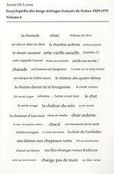 Encyclopédie des longs métrages français de fiction 1929-1979 : Volume 6 (De Ce cher Victor à La Chauve-souris)