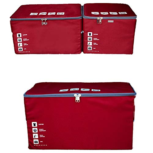 Storage box Kofferraum Aufbewahrungsbox waschbar Aufbewahrungsbox für Autos Leinwand Oxford Tuch Faltbox Aufbewahrungsbox Auto Ausrüstung Zubehör Geschenke ( Color : Pink , Size : 38*29*34cm ) -