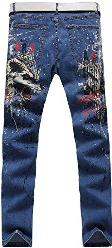 jeansian Herrenmode Casual Pants Jeans-Hose J229 MJB037_Blue