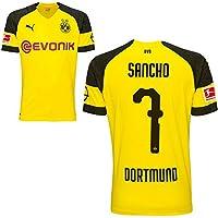 Puma BVB Borussia Dortmund Home Trikot mit Bundesliga Logo 2018 2019 Herren Kinder mit Spieler Name