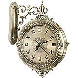 Reloj de Pared para salón Europeo, Creativo, de Doble Cara, Reloj de Pared