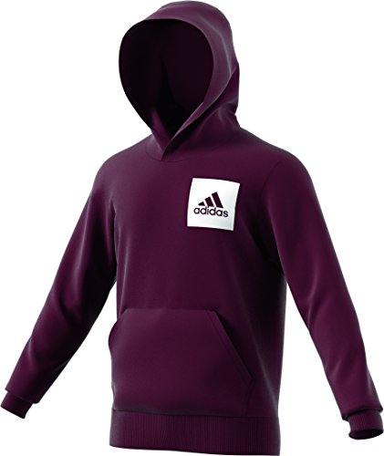 adidas Performance Kapuzensweatshirt »ESSENTIALS CHEST LOGO PULLOVER HOOD FLEECE« (Hoodie Fleece Maroon)