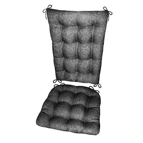 Barnett Hayden Schaukelstuhl Kissen-Latex Schaumstoff Füllen-Made in USA, Polyester-Mischgewebe, Pewter Grey, xl