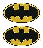 Antrix Lot de 2 patchs tactiques Dark Knight Batman DC Comics Movie Classic Superhéros Batman Logo Applique Patch Crochet et boucle Militaire Batman Badge Morale Ovale 11,4 x 6,3 cm