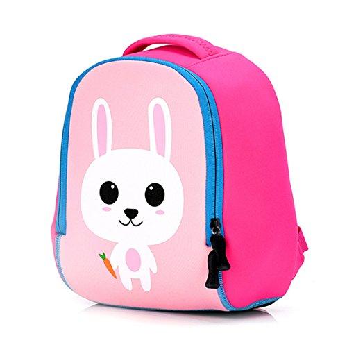 WOLFBUSH Babyrucksack Kindergartenrucksack Kinder Rucksack 27 * 12 * 23cm - Hund Hase