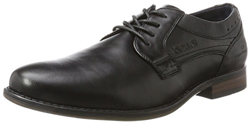 TOM TAILOR Herren 3780001 Derbys, Schwarz (Black), 44 EU