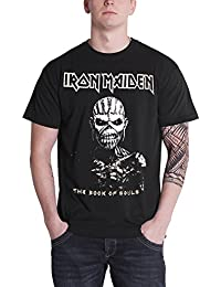 Iron Maiden T Shirt Book of Souls Eddie Band Logo Official Mens Black
