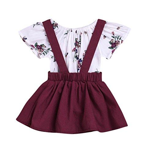 9dfdaa73b Vestido para Niñas, K-youth® Ropa Bebe Niña Vestido de falda de manga