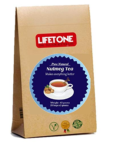 Té de nuez moscada | Antídoto para el insomnio | Dormir Té Fácil | Delicioso té antiestrés | Té Relajante | 20 bolsitas de té, 40 g