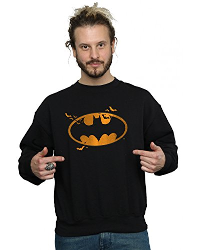 (DC Comics Herren Batman Halloween Logo Sweatshirt XXX-Large Schwarz)