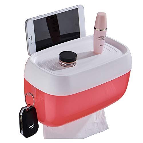Serviettenhalter Wasserdichter Rollregal, Zubehör für Badezimmer, Toilettenpapier-Boxen, Telefonaufbewahrung, Papierspender, Wandmontage,...