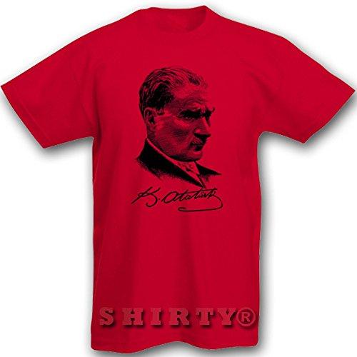 Mustafa Kemal Atatürk 6 - Türkiye - T Shirt - rot - S bis 5XL - 106 Rot