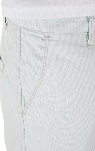 Yazubi Herren Shorts Daniel - Elegante, Cargo Shorts aus Sommerstoff mit Hahnentritt-Muster Türkis (Illusion Blue 134103)