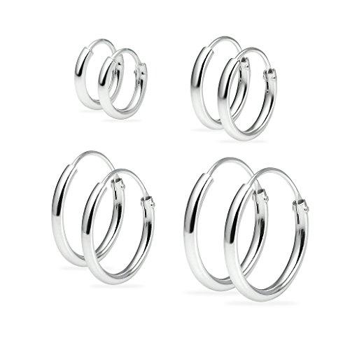 Silverline Jewelry - Sterling-Silber 925 Sterling-Silber keine Angabe (Ohrringe Paar Set 4)