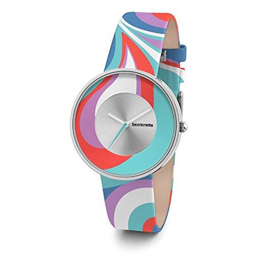 lambretta-cielo-paisley-turquoise-quartz-acier-bleu-rouge-blanc-argent-violet-cuir-femme-montre